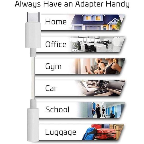 (2st) Adapter USB-C till 3.5mm (Samsung 5G Ultra) hörlurar
