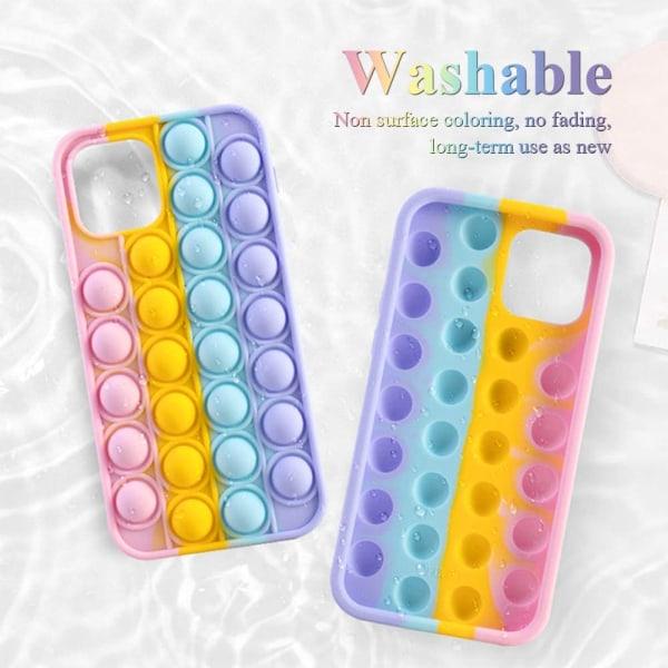 Pop It Fidget Bubble Toy Mobilskal Stressboll iPhone12MINI
