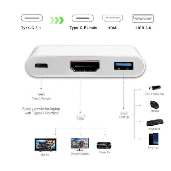Thunderbolt 3 - Macbook USB-C Adapter - HDMI & PD USB 3.0