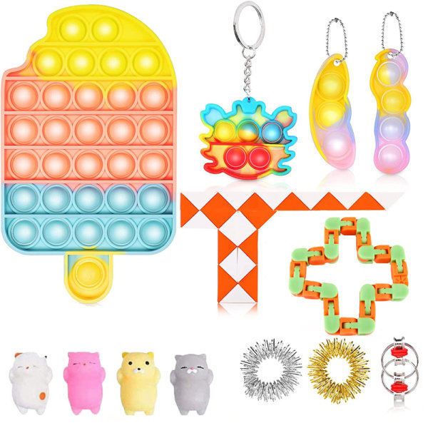 13 Pack Fidget Toy Set Pop IT Sensory Toy for Kids Vuxna