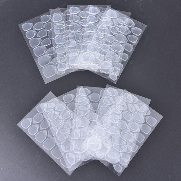 10st / mycket dubbelsidig tejpspets genomskinliga falska naglar onesize