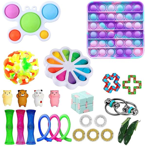 25pack Fidget Toys Pack Sensory Pop it Stress Ball Party Present 25pc