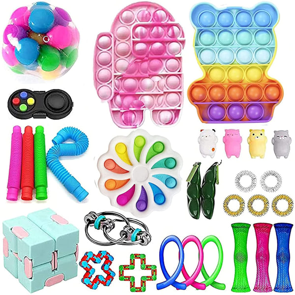 Fidget Toy Set Pop IT sensorisk leksak för barn vuxna 30 st 30pc