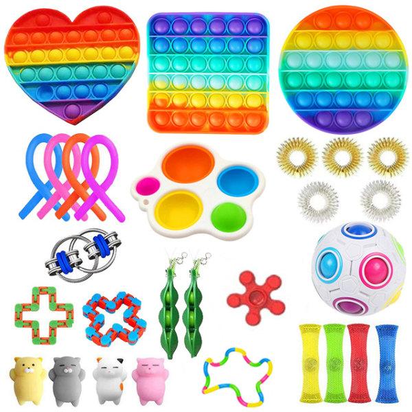 29-pack Fidget Toy Set Pop IT sensorisk leksak för barn vuxna 29 Pack