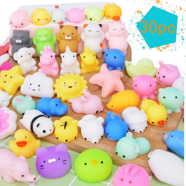 30st söta leksaker Djur Party Fidget Toys Stress Ball