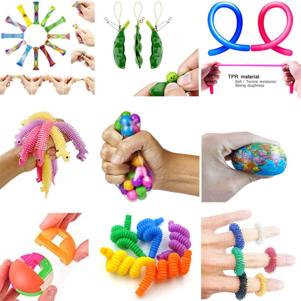 42 Fidget Toys Sensual Bag Nyckelring Populära leksaker