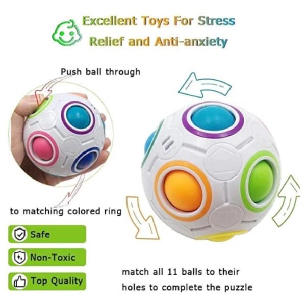 8 bitar prylar och fidget leksaker Pop It, stress ball