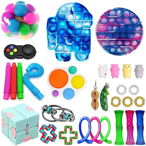 30st Fidget Toys Pack Sensory Pop it Stress Ball Party Present 30