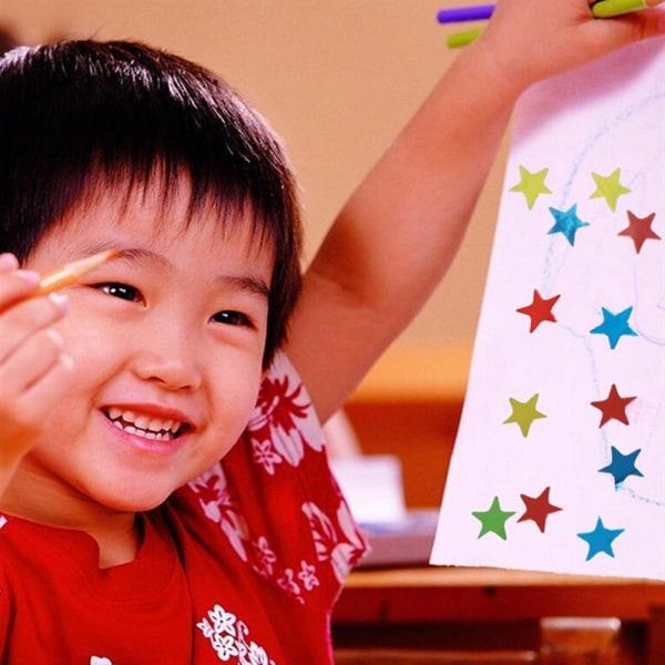 880st Stjärnformade klistermärken för skolbarnlärare