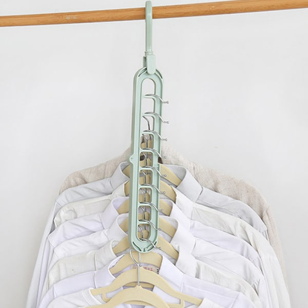 9-håls multifunktionell klädhängare Garderob Rack Space Saver