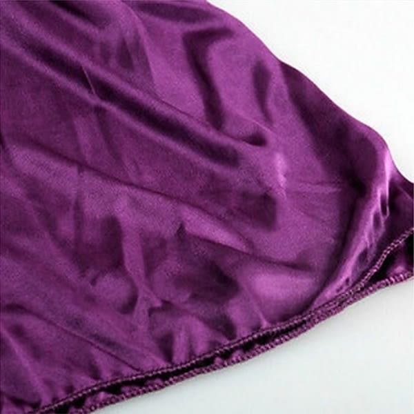 Damnattkläder Nattklänning Satin Silk Babydoll Black L