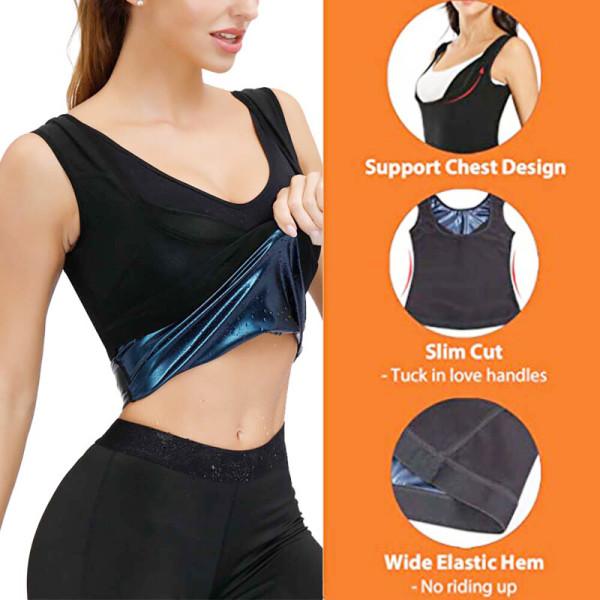 Unisex svett bantning väst med bastu effekt träning linne