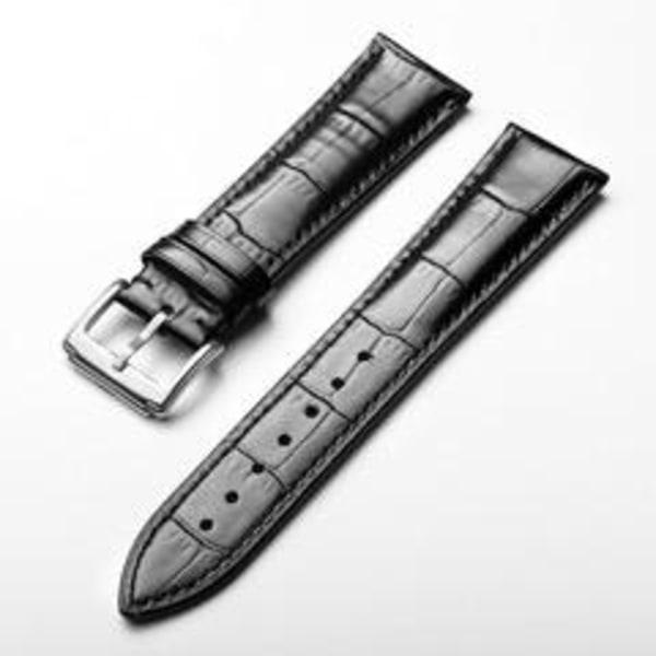 Klockarmband svart 20mm Svart