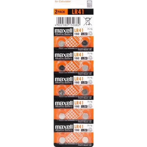 384 / 392 / LR41 / AG3 10-pack Maxell Aluminium
