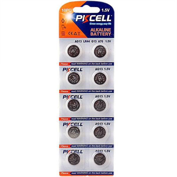 LR44 / A76 / 357 / AG13 10-pack PKcell Aluminium