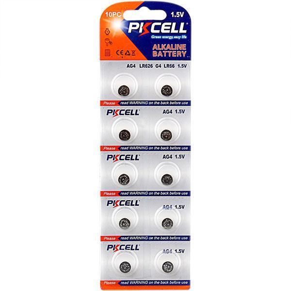 Batteri 377 AG4  lr626sw  10-pack PKcell Aluminium