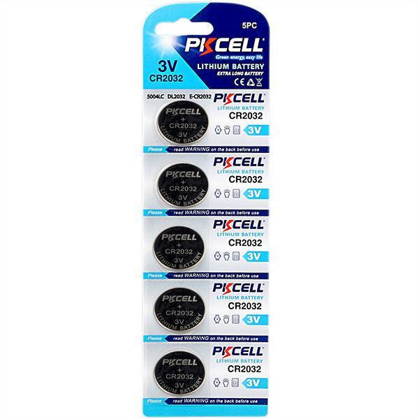 Batteri CR2032 10-pack PKcell (2x5pack) Aluminium