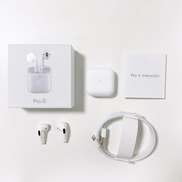 Airpod PRO4 Bluetooth 5,0 Trådlös laddning Vit
