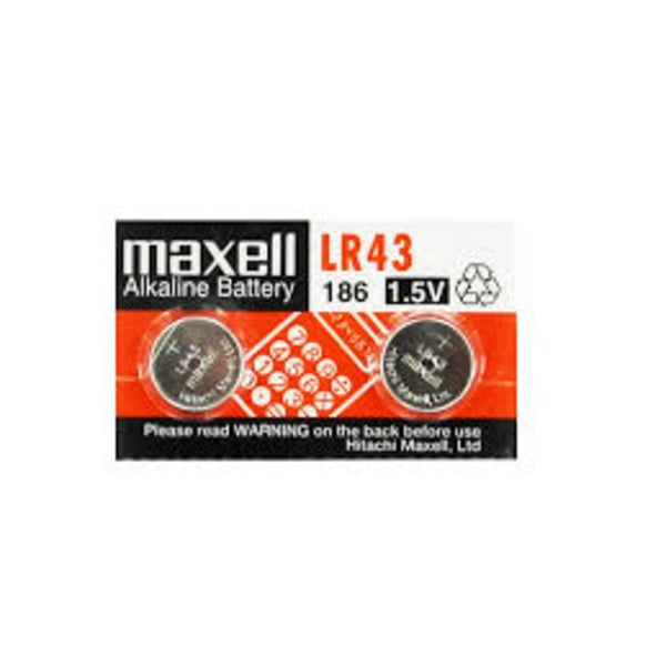 Maxell LR 43 / 186 2-pack