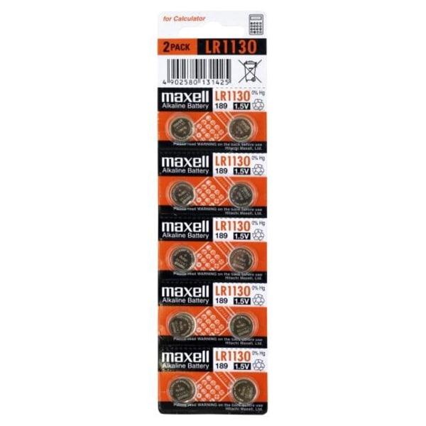 Maxell LR1130 10-Pack Alkaline 1,5V Aluminium
