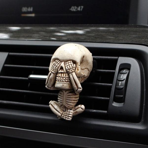 3st Evil Skull Trio Statue Bilventiler Hartsdekorationer 3Pcs/Set