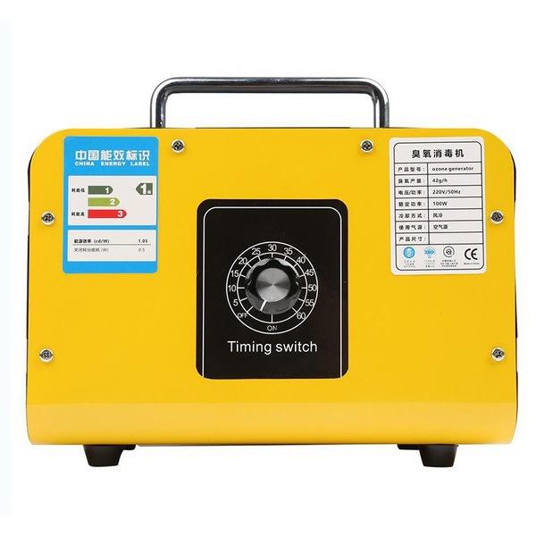 48g / h 110V / 220V bärbar ozongenerator med timerfunktion Yellow EU Plug