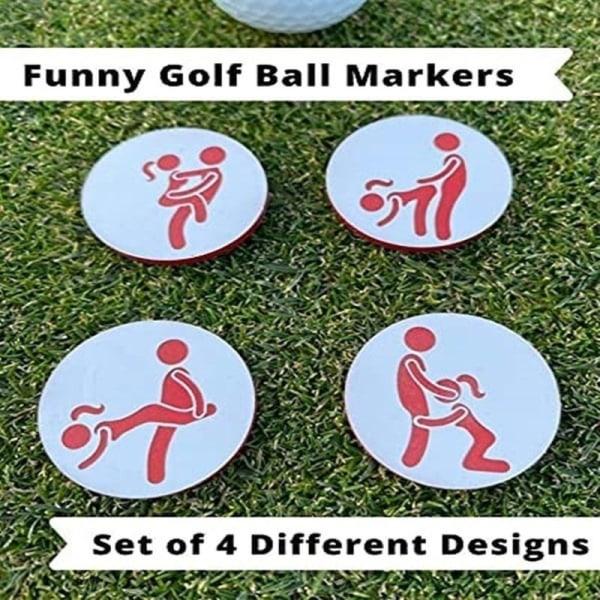 4ST Roliga golfbollmarkörer Golftillbehörgåva 2Set/8PCS