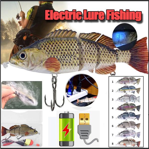 Elektrisk fiskelokare Wobblers USB uppladdningsbart artificiellt bete