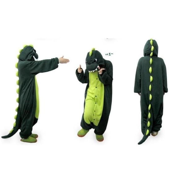 Fancy Cosplay Kostym Onesie Pyjamas Vuxen Nattkläder Dinosaurie