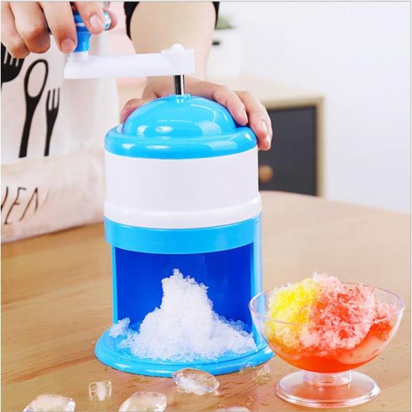 Handhållen Ice Shaver hushålls liten smoothie maskin isbrytare blue