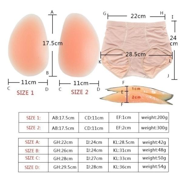 Damer sexiga vadderade höft trosor silikon falska skinkor