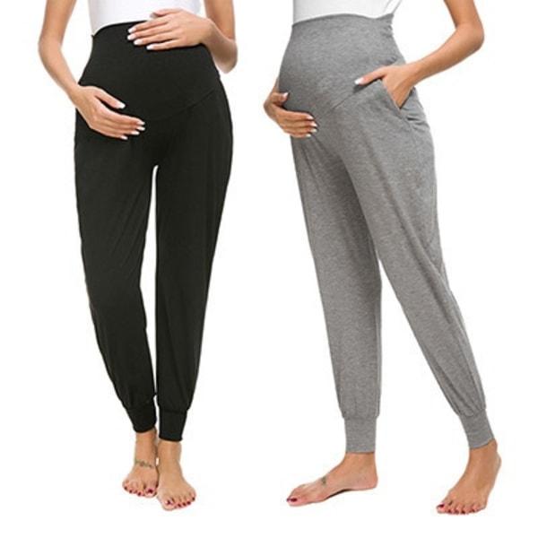 Moderskap Byxor Gravida Lösa Casual Byxor Graviditetsbyxor