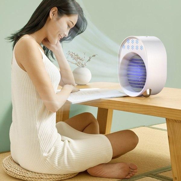 Bärbar luftkonditionering Mini USB-fläkt Luftkylare luftfuktare White