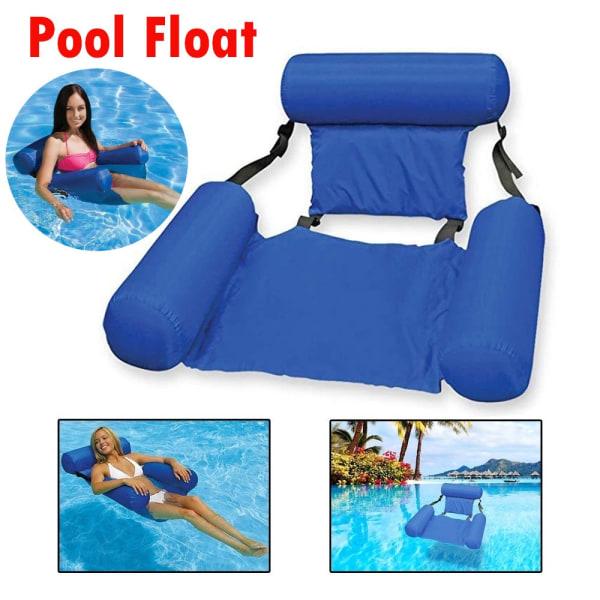 Simbassäng Float Chair Folding Swimming Ring Air Madrass blue