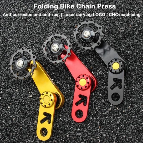 Enhastighets fällbar cykelkedja bakväxelkedjestyrning