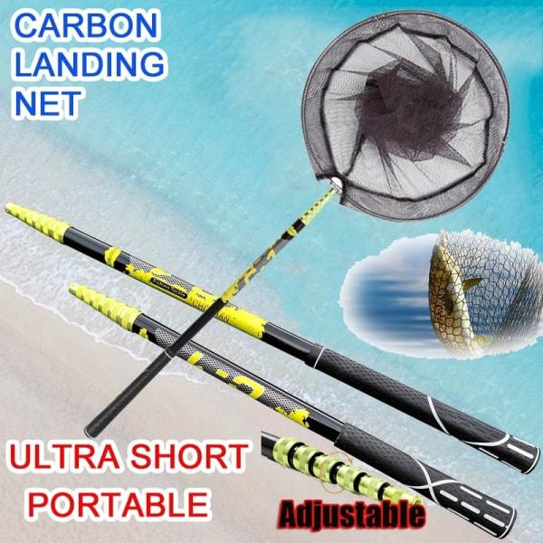 Teleskopiskt fällbart fiskestång + ultralätt nät Teleskopiskt nät