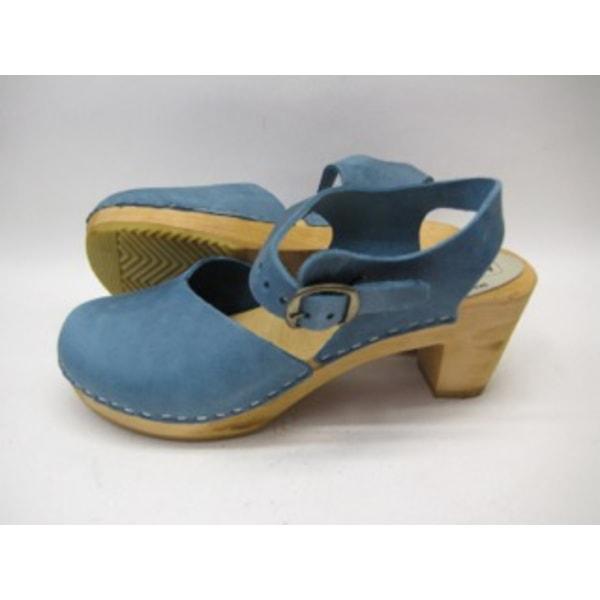 Trätoffel sandaletter träskor MOHEDA Dolly blå 38