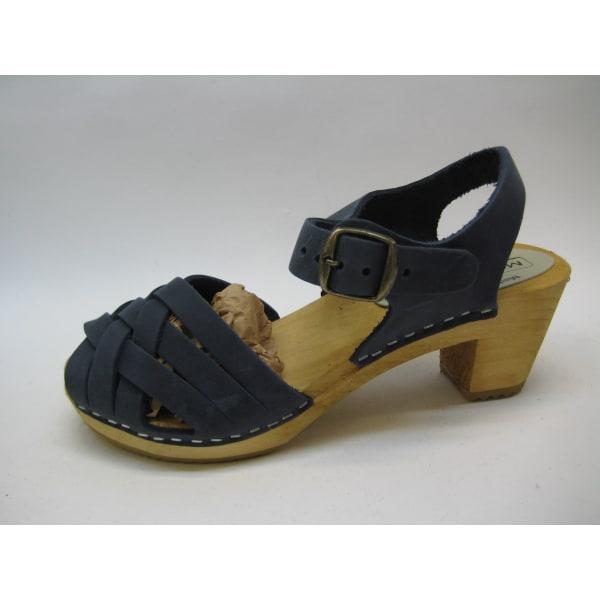 Trätofflor träsko sandalett moheda Betty Blå 39