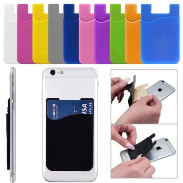 2-pack Universal Mobil plånbok-12 Färger Grå