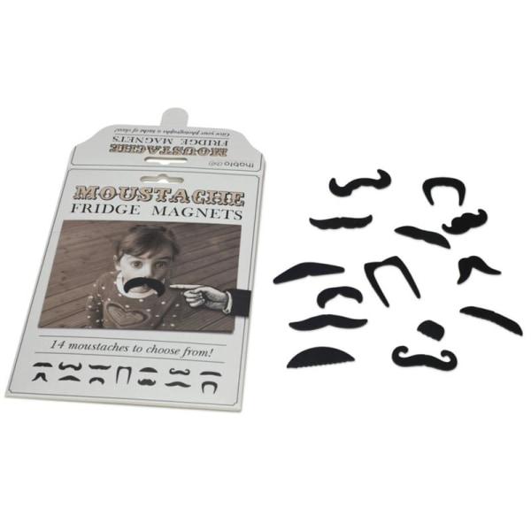 Kylskåpsmagneter - Mustasch (14 magneter)