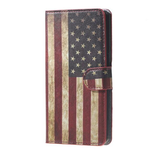Plånboksfodral Huawei P8 Lite 2017 & Honor 8 Lite - Flagga USA