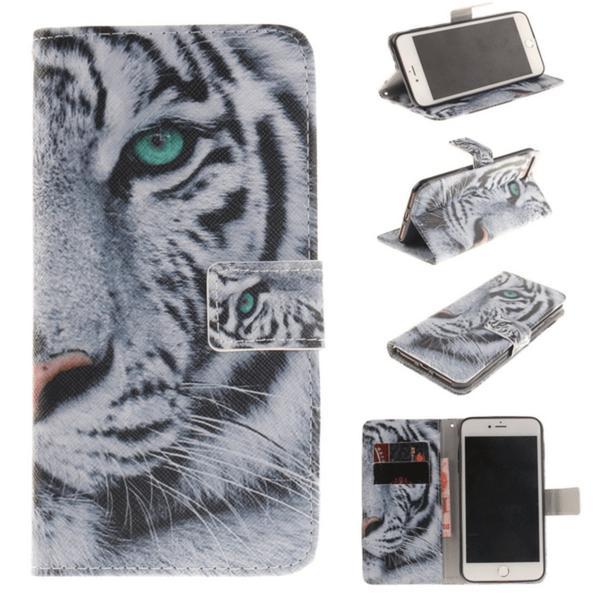 Plånboksfodral Iphone 7 – Vit Tiger