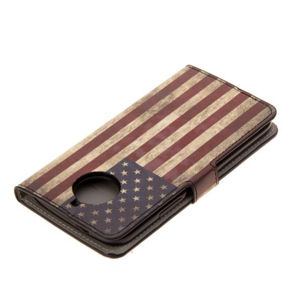 Plånboksfodral Moto G5S - Flagga USA