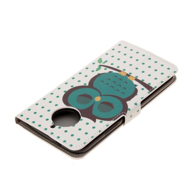 Plånboksfodral Moto G5S – Prickigt med Uggla