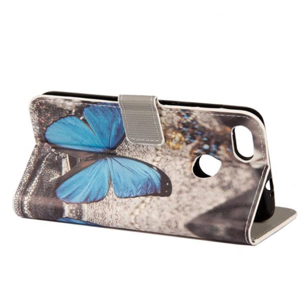 Plånboksfodral Oneplus 5T – Blå Fjäril