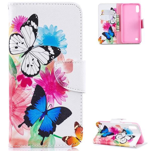 Plånboksfodral Samsung Galaxy A10 – Färgglada Fjärilar
