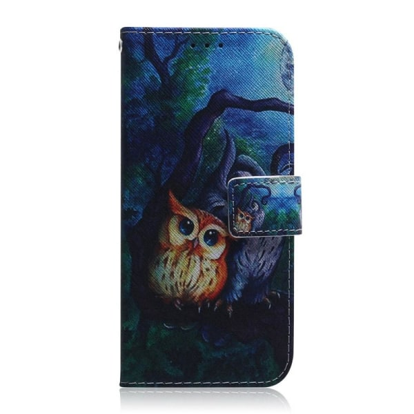 Plånboksfodral Samsung Galaxy A12 - Ugglor I Månsken