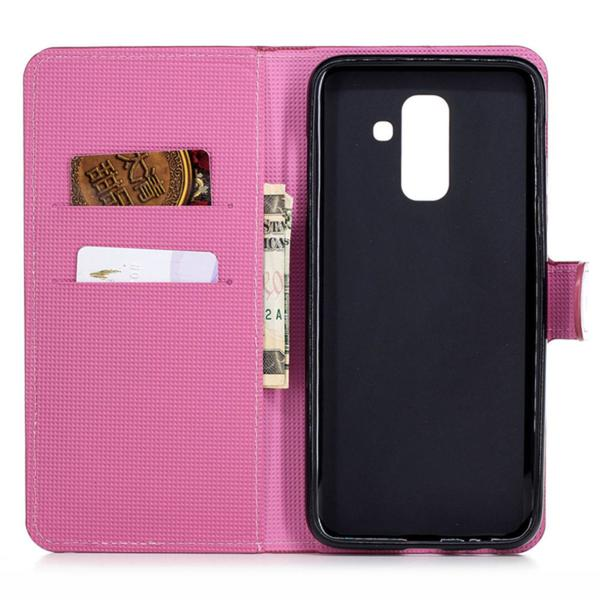 Plånboksfodral Samsung Galaxy A6 Plus - Lotus