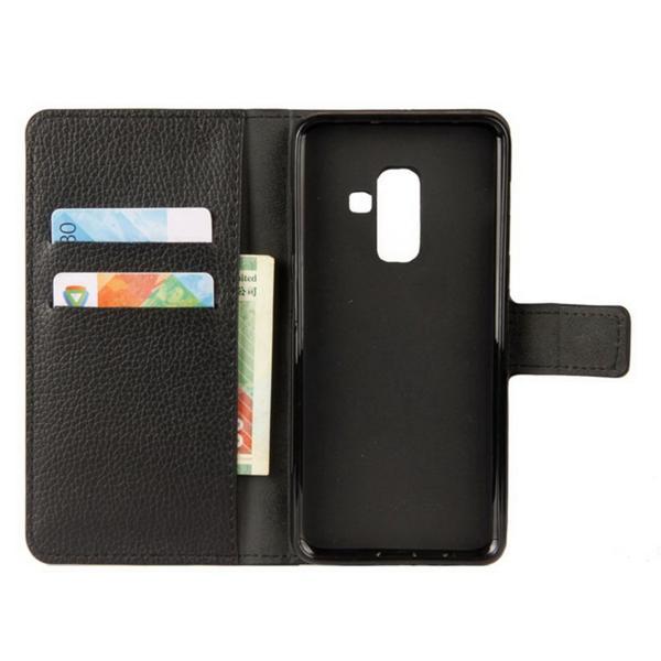 Plånboksfodral Samsung Galaxy A6 Plus - Svart Svart