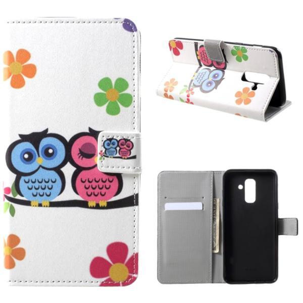 Plånboksfodral Samsung Galaxy A6 Plus - Ugglor & Blommor
